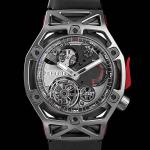 Hublot TechFrame Ferrari 70 Years Tourbillon Chronograph in titanio, 70 esemplari (125mila euro).