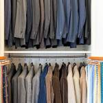 Abiti e giacche. Bussinello sceglie le giacche prevalentemente con le tasche oblique, all'inglese, e con la ticket pocket. Al lavoro preferisce indossare abiti completi, mentre nel casual predilige lo spezzato.