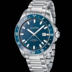 Eberhard & Co. Scafograf Gmt, orologio meccanico a carica automatica con cassa in acciaio e inserto in ceramica sulla lunetta (2.800 euro).
