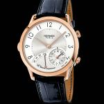 Slim d'Hermès L'Heure Impatiente: uno speciale trillo risuona allo scadere dell'ora che precede un appuntamento (31mila euro).