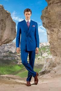 Abito doppiopetto in lana esclusiva Stefano Ricci e cashmere, camicia 100% cotone Stefano Ricci, cravatta in seta stampata, Oxford in pelle di vitello.