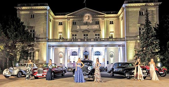 Intriganti carrozzerie durante la serata di gala inaugurativa al Palazzo Bianco di Belgrado. Da sinistra, Rolls-Royce Corniche II del 1986, la Rolls-Royce Phantom III del 1937 vincitrice del Chivas best of show e la Rolls-Royce Silver Cloud III del '64.