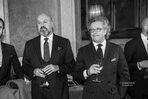Piero Antonini e Umberto Paccotto del Lanificio F.lli Cerruti.